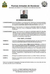 ACUERDO DE DUELO