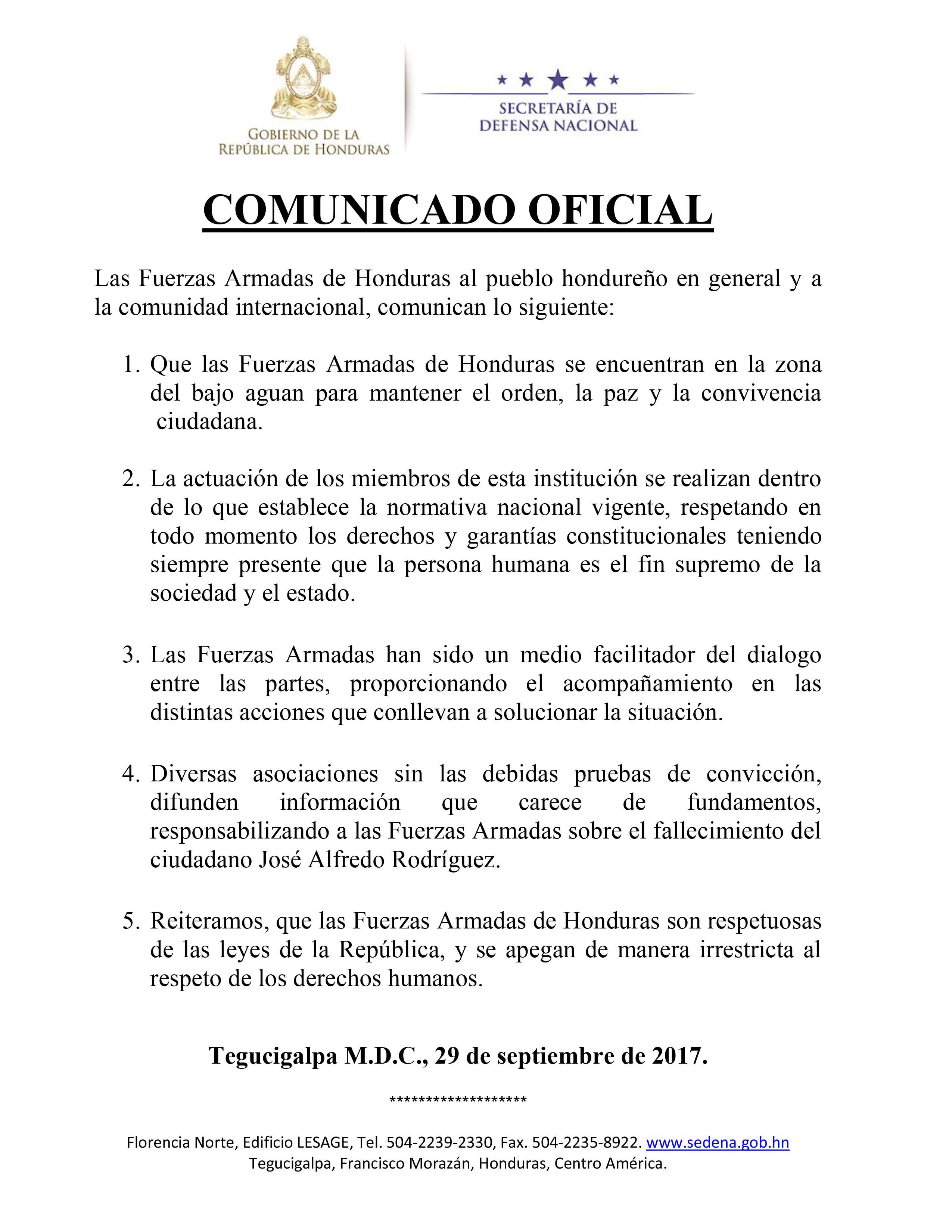 COMUNICADO EL AGUAN 29917